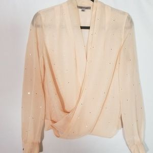 Jennifer Lopez Sheer Top with Rhinestones Sz small